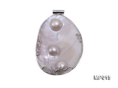 75mm mabe pearl pendant with sterling silver MP015 Image 1