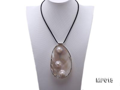 75mm mabe pearl pendant with sterling silver MP015 Image 2