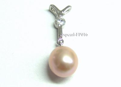 9x10mm Lavender Drop-shaped Freshwater Pearl Pendant with an 18k Gold Pendant Bail FP016 Image 1