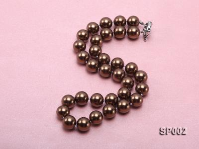 12mm bronze round seashell pearl necklace SP002 Image 2