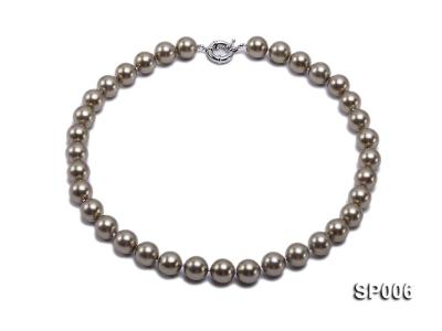12mm bronze round seashell pearl necklace SP006 Image 1