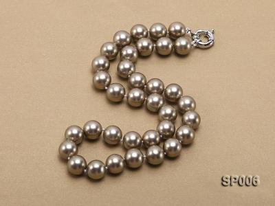 12mm bronze round seashell pearl necklace SP006 Image 2