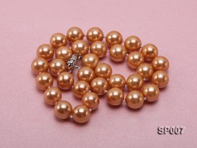 12mm reddish bronze round seashell pearl necklace SP007 Image 3