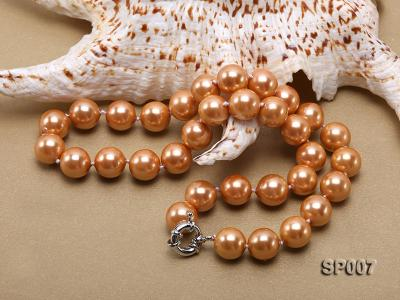 12mm reddish bronze round seashell pearl necklace SP007 Image 4