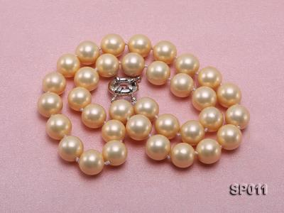 12mm golden round seashell pearl necklace SP011 Image 3