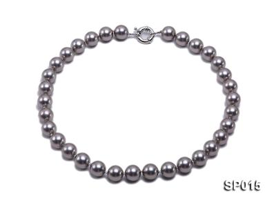 12mm grey round seashell pearl necklace SP015 Image 1