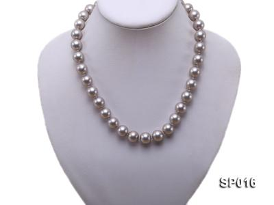 12mm grey round seashell pearl necklace SP016 Image 5