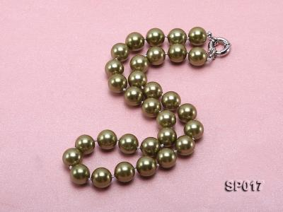 12mm green round seashell pearl necklace SP017 Image 2