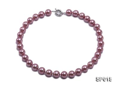 12mm claret-red round seashell pearl necklace SP018 Image 1