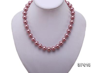12mm claret-red round seashell pearl necklace SP018 Image 5