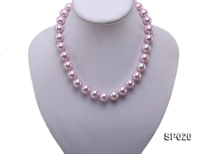 12mm purple round seashell pearl necklace big Image 2