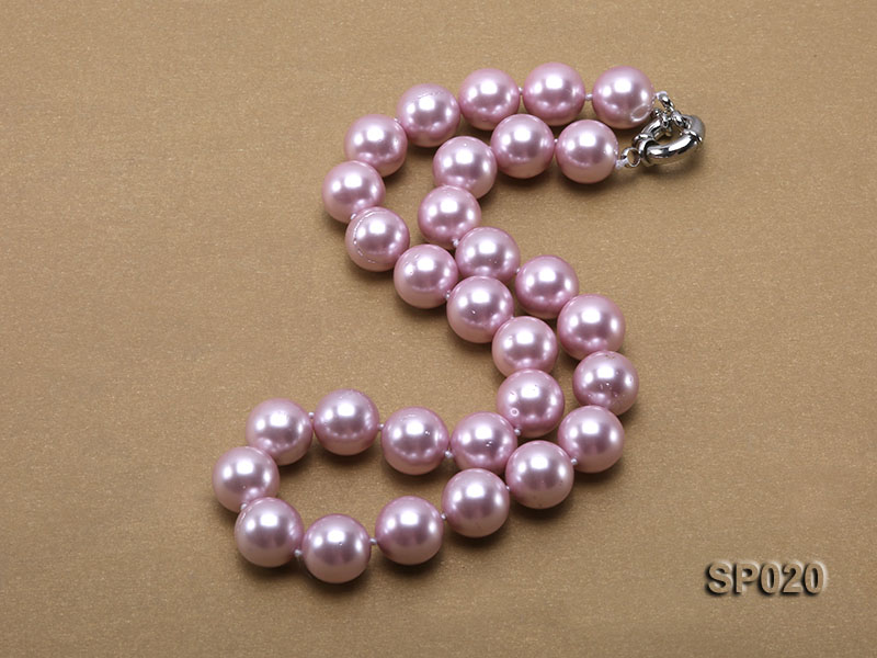 12mm purple round seashell pearl necklace big Image 3