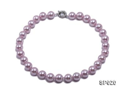 12mm purple round seashell pearl necklace SP020 Image 1