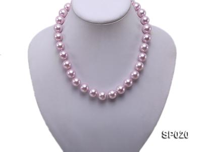 12mm purple round seashell pearl necklace SP020 Image 2