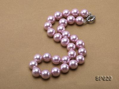 12mm purple round seashell pearl necklace SP020 Image 3