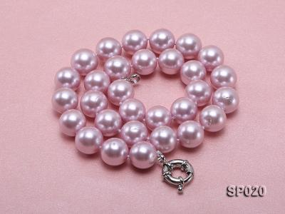12mm purple round seashell pearl necklace SP020 Image 5