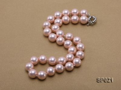 12mm pink round seashell pearl necklace SP021 Image 2