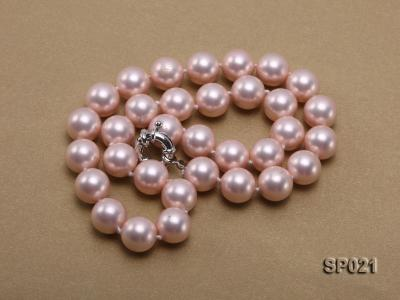 12mm pink round seashell pearl necklace SP021 Image 3
