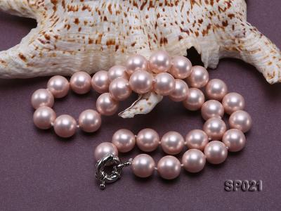 12mm pink round seashell pearl necklace SP021 Image 4