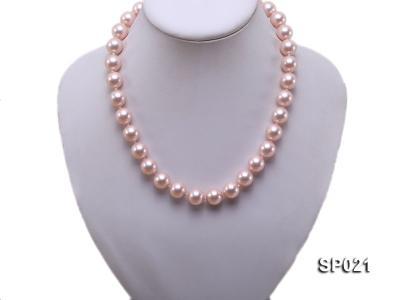 12mm pink round seashell pearl necklace SP021 Image 5