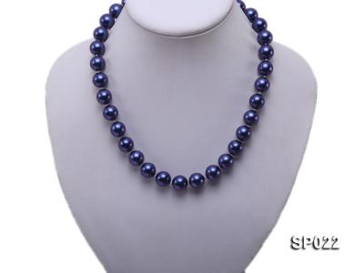 12mm dark blue round seashell pearl necklace SP022 Image 2