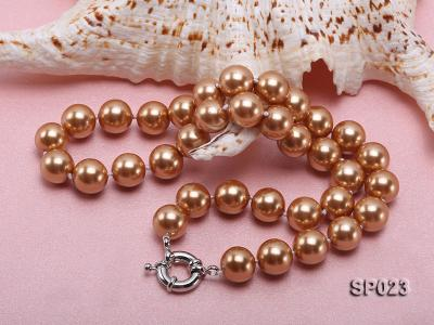 12mm bronze round seashell pearl necklace SP023 Image 3