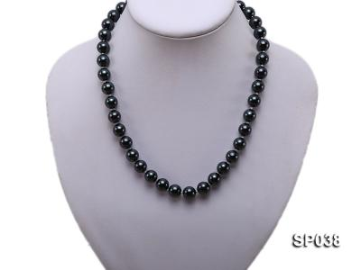 10mm black round seashell pearl necklace SP038 Image 5