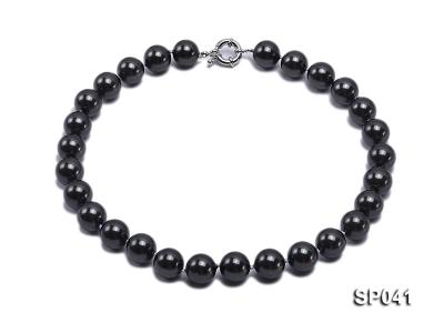14mm black round seashell pearl necklace SP041 Image 1