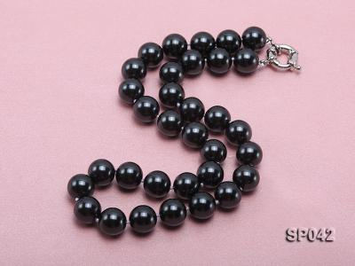 12mm black round seashell pearl necklace SP042 Image 3