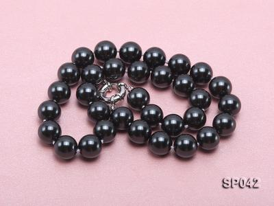 12mm black round seashell pearl necklace SP042 Image 4