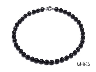 10mm black round seashell pearl necklace SP043 Image 1