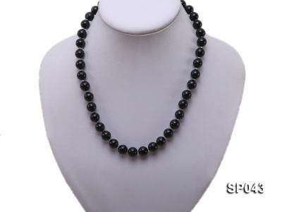 10mm black round seashell pearl necklace SP043 Image 5