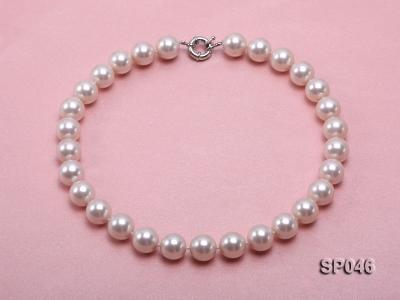Gorgeous 14mm white round seashell pearl necklace SP046 Image 1