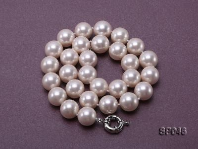 Gorgeous 14mm white round seashell pearl necklace SP046 Image 4
