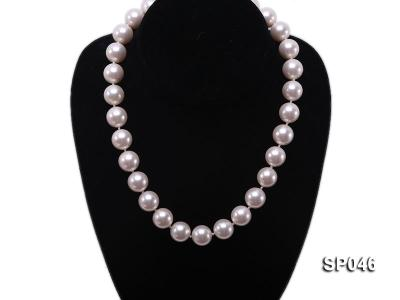 Gorgeous 14mm white round seashell pearl necklace SP046 Image 5