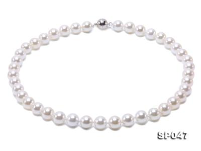 12mm white round seashell pearl necklace SP047 Image 2