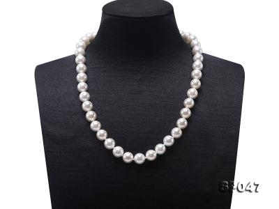 12mm white round seashell pearl necklace SP047 Image 1