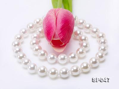 12mm white round seashell pearl necklace SP047 Image 6