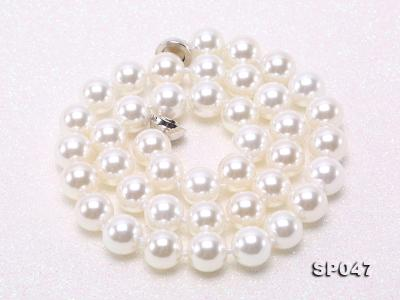 12mm white round seashell pearl necklace SP047 Image 8