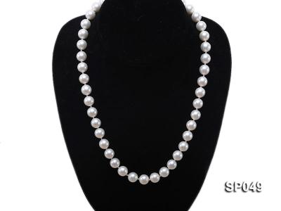 10mm White Round Seashell Pearl Necklace  SP049 Image 5
