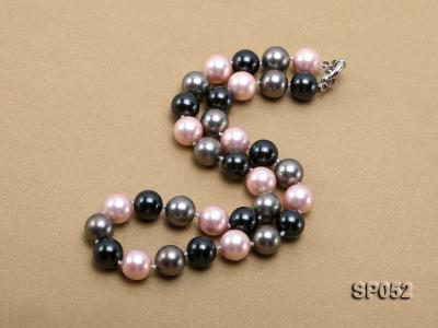 12mm multicolor round seashell pearl necklace SP052 Image 2