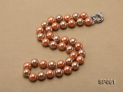 10mm multicolor round the south seashell pearl necklace SP061 Image 2