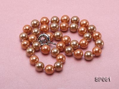 10mm multicolor round the south seashell pearl necklace SP061 Image 4