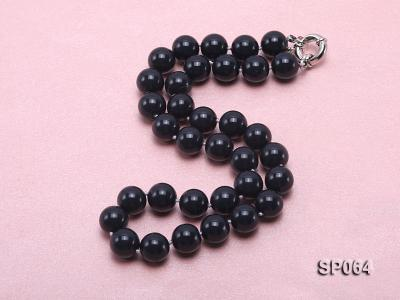 12mm black round seashell pearl necklace SP064 Image 2