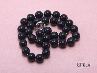 12mm black round seashell pearl necklace SP064 Image 3