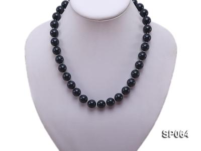 12mm black round seashell pearl necklace SP064 Image 5