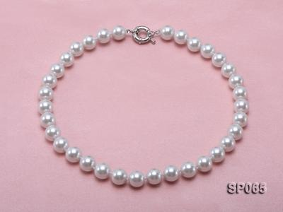 12mm white round seashell pearl necklace SP065 Image 1
