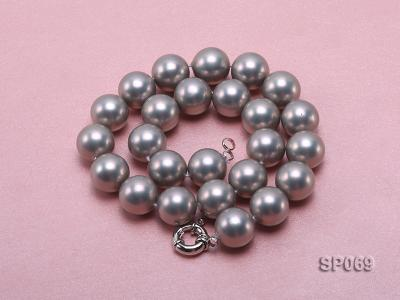 16mm grey round seashell pearl necklace SP069 Image 2