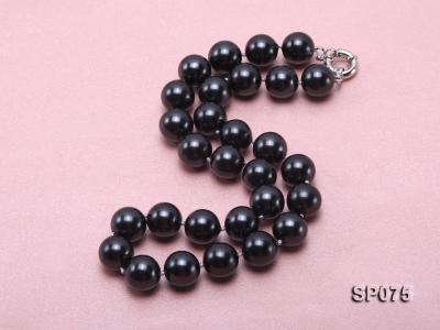 14mm black round seashell pearl necklace SP075 Image 2