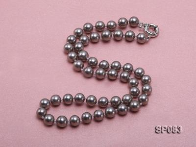 8mm grey round seashell pearl necklace SP083 Image 2
